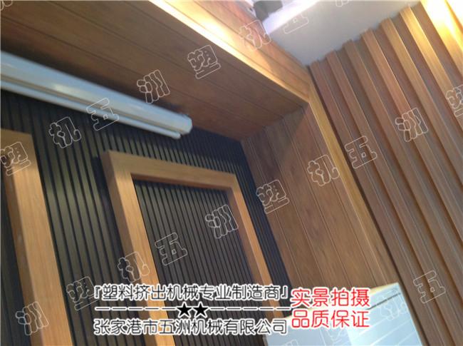 wpc木塑墙板/扣板/长城板生产线